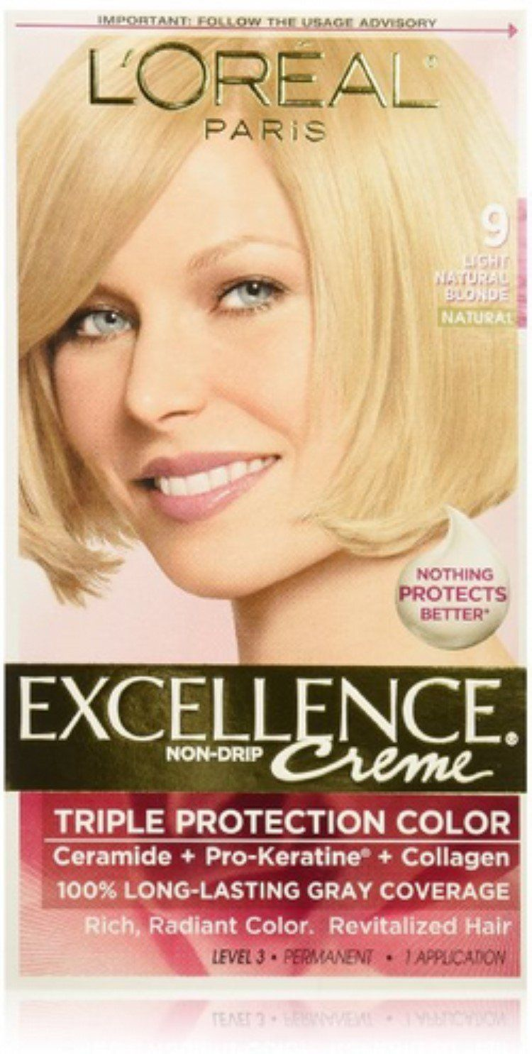Loreal Excellence Creme Haircolor Light Natural Blonde 9 Pack Of