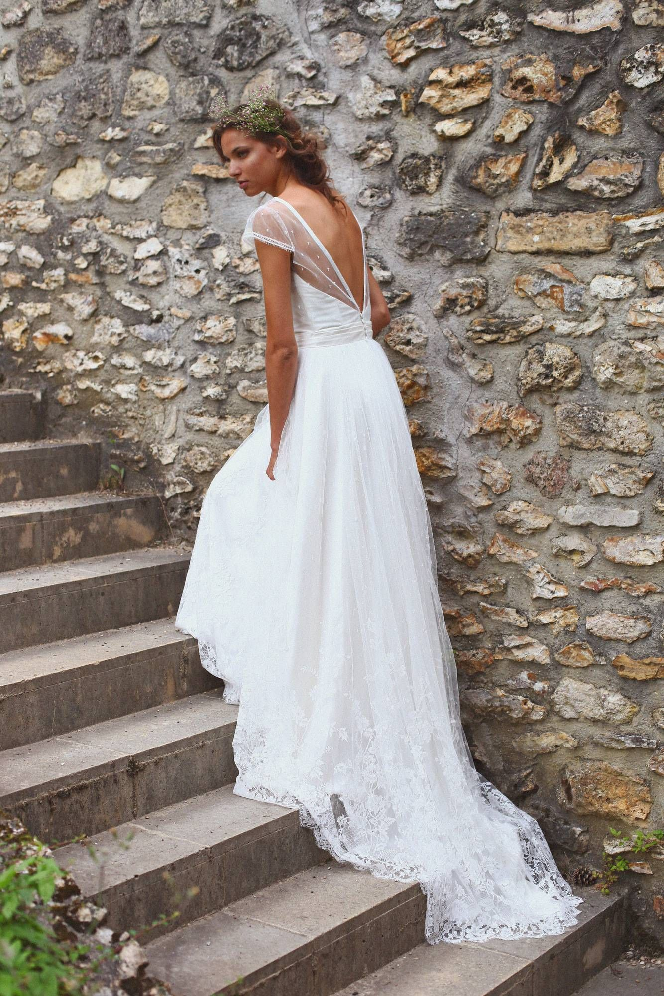 Lys Adeline Bauwin Créatrice De Robe De Mariée Sur Mesure Robe De Mariée Dentelle Robe De Mariée Princesse Robe Boheme Mariage