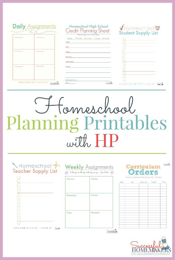 Homeschool Planning Printables with HP Homeschool, Worksheets and - succession planning template