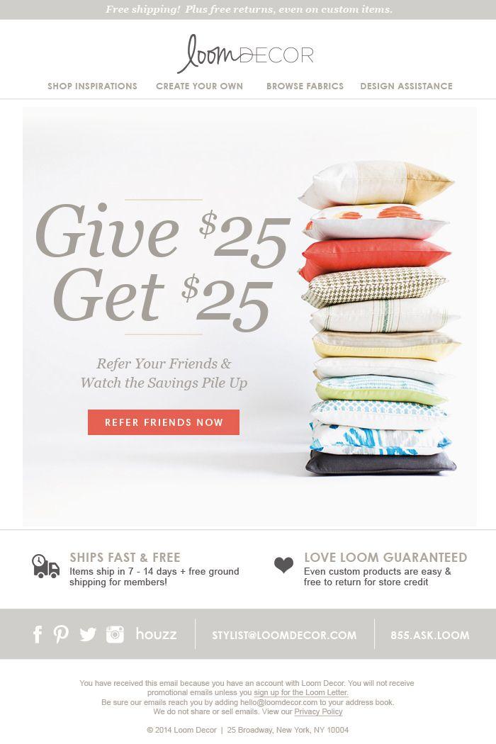 loomdecor-email-blast Marketing Pinterest - sample email marketing