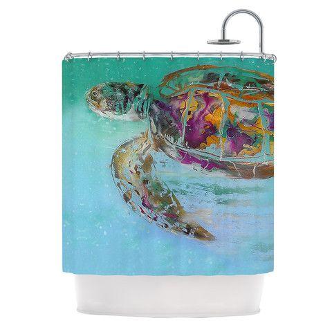 Josh Serafin Mommy Turtle Shower Curtain