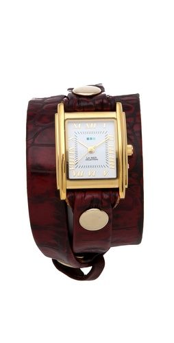 La Mer Collections Limited Edition Croco Wrap Watch