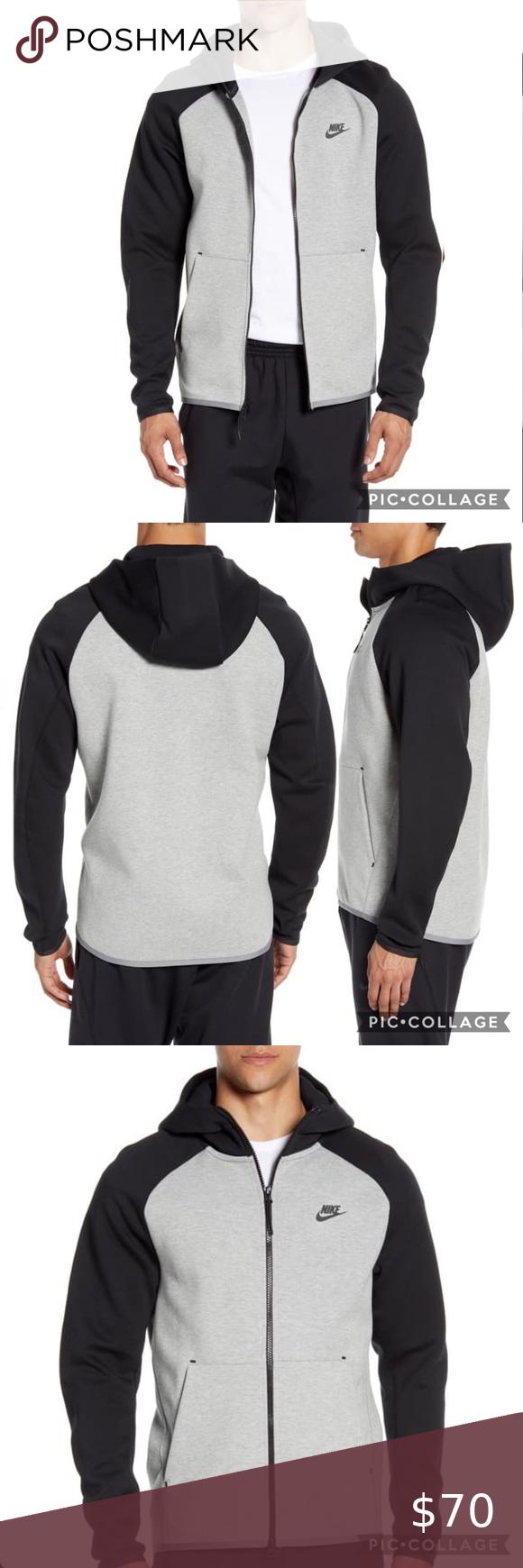 Grey Nike Sportswear Tech Fleece Zip Hoodie L Nwt Tech Fleece Hoodies Zip Hoodie [ 1740 x 580 Pixel ]
