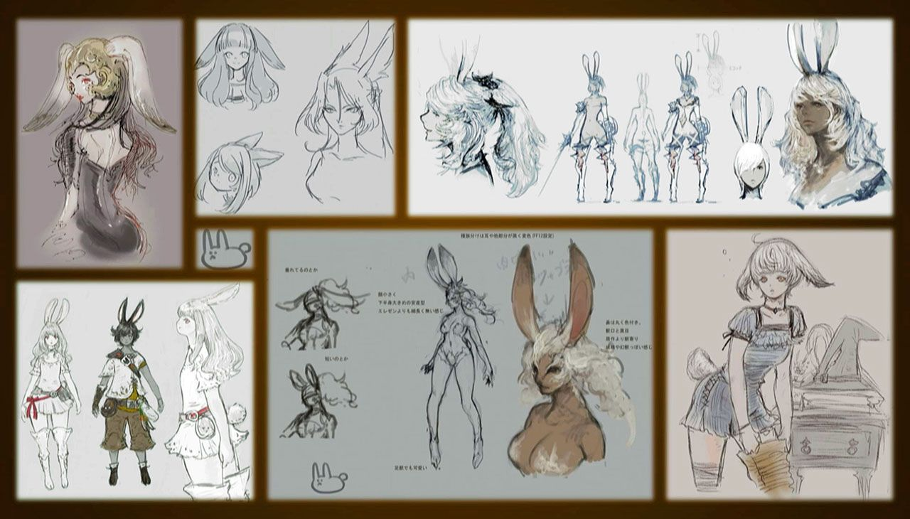 Final Fantasy Viera Concept Art
