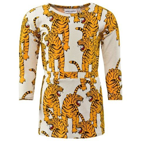 Mini Rodini White Tiger Print Dress AW15