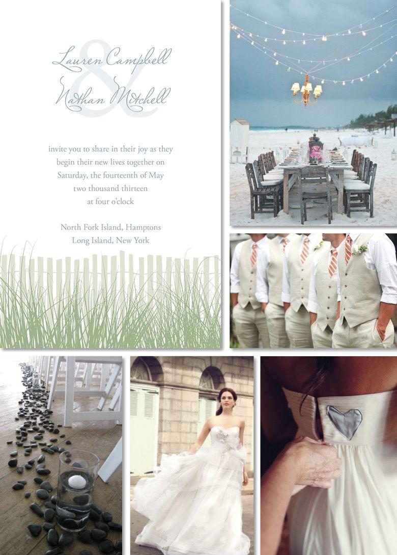 Beach Wedding Inspiration #serene #beach #wedding #theme #style