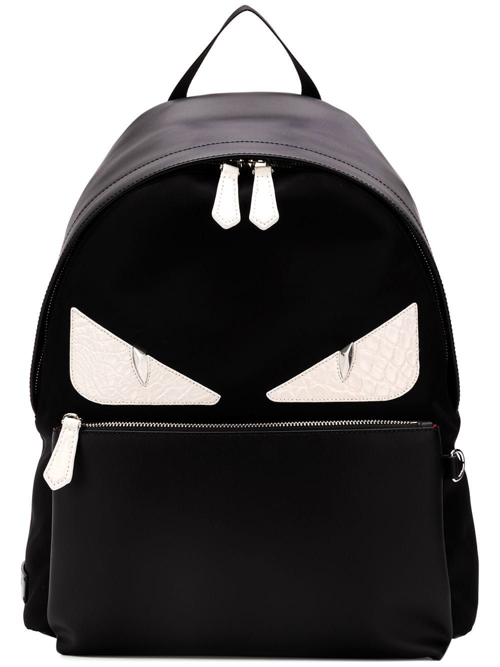 dd99e94551f6 FENDI FENDI EYES PRINTED BACKPACK - BLACK.  fendi  bags  leather  backpacks
