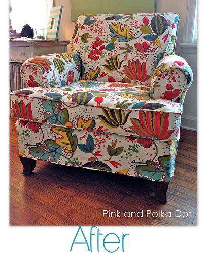 Funky Floral Club Chair