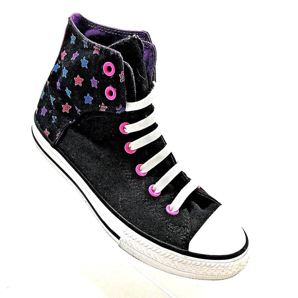 ca7288f56d3e Converse Chucks Purple Pink Black High Top All Stars Shoes Size 5 Junior EU  37.5  Converse  Athletic