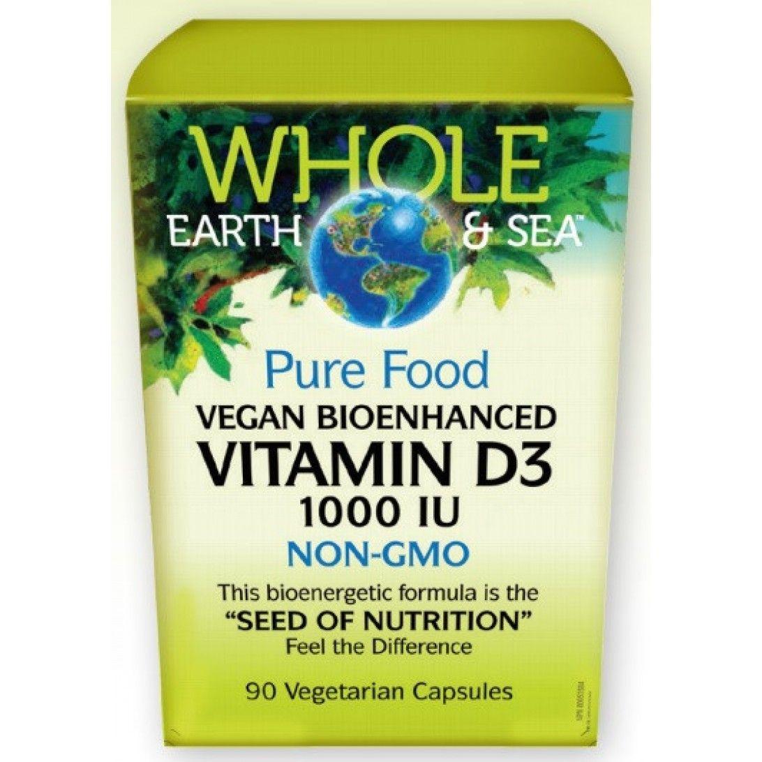 Whole Earth and Sea Pure Food Vegan Bioenhanced Vitamin D3