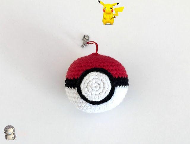 Pokeball Amigurumi de Pokemon - Patrón Gratis en Español ...