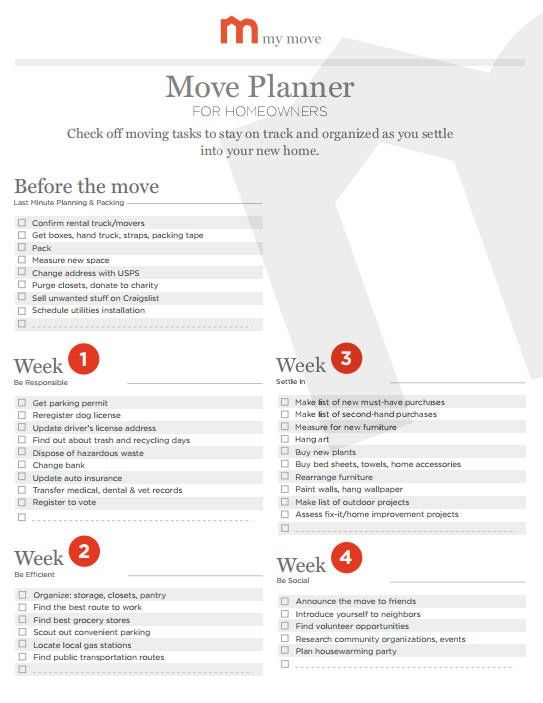 moving timeline checklist my move moving tips pinterest