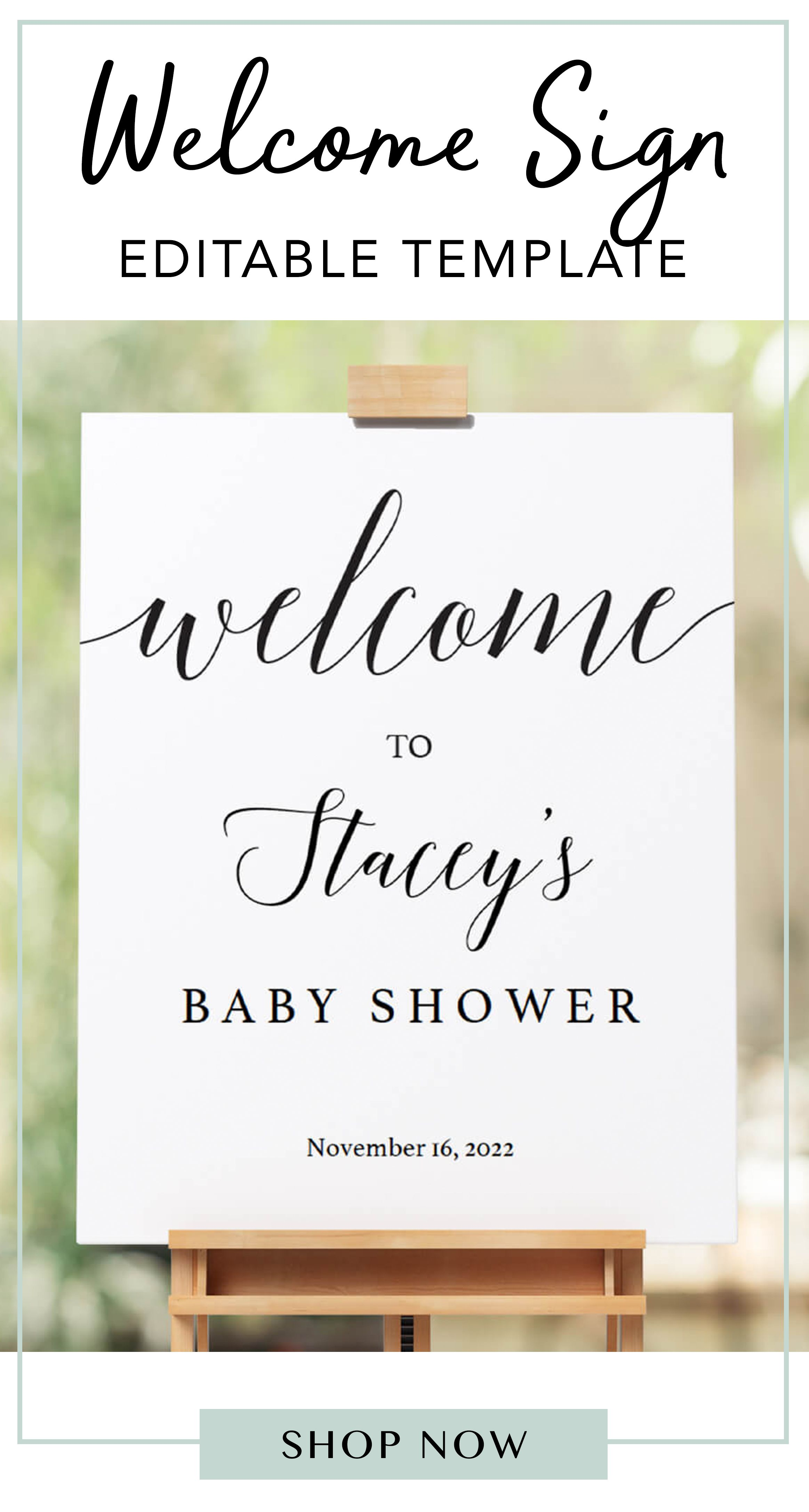 Calligraphy Welcome Sign Baby Shower Signs Printable Black And Etsy In 2020 Baby Shower Signs Printable Baby Shower Welcome Sign Welcome Sign