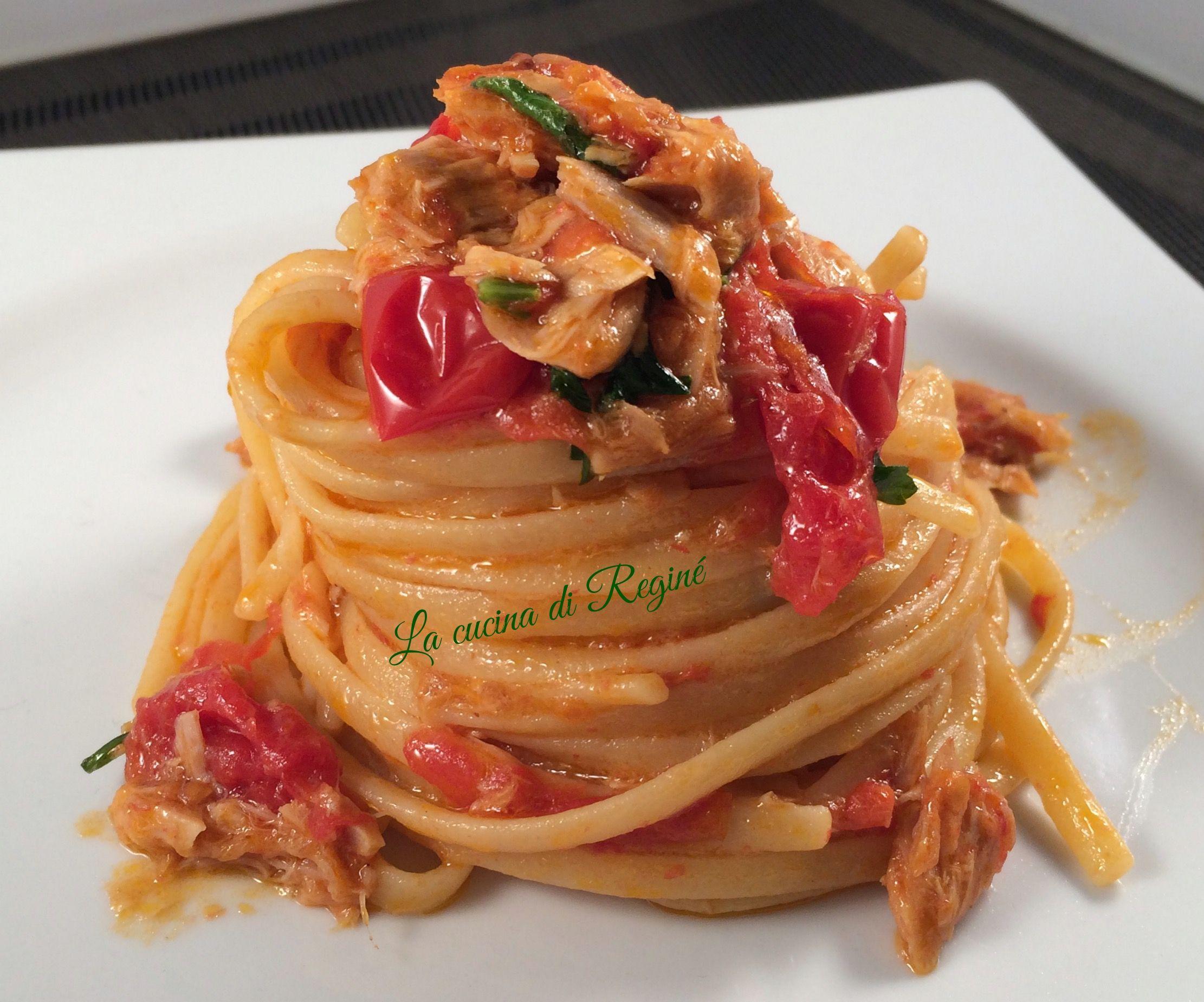 Linguine al tonno ricetta velocissima recipe in 2019 for Piatti di cucina