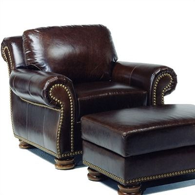 Distinction leather hilton leather club chair 1 1887 - Hilton furniture living room sets ...