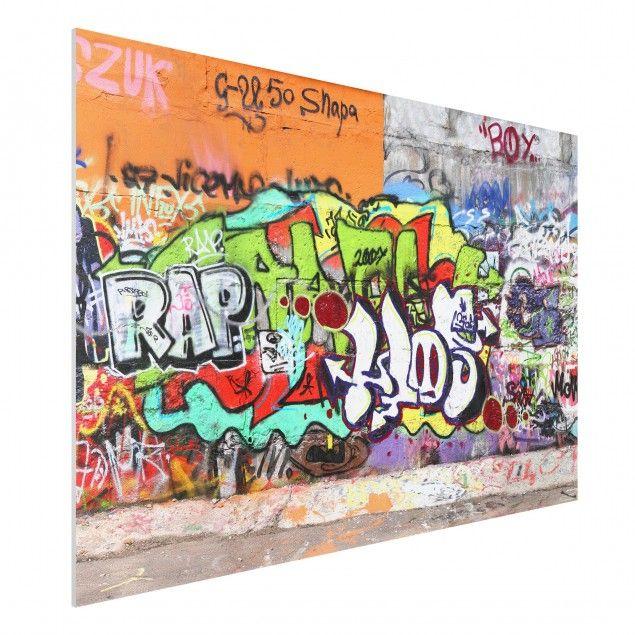 Forex Fine Art Print   Wandbild Graffiti   Quer 2:3