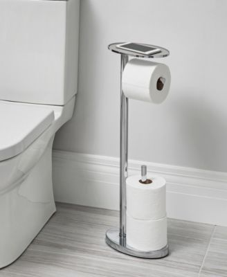 Better Living Ovo Toilet Caddy Silver