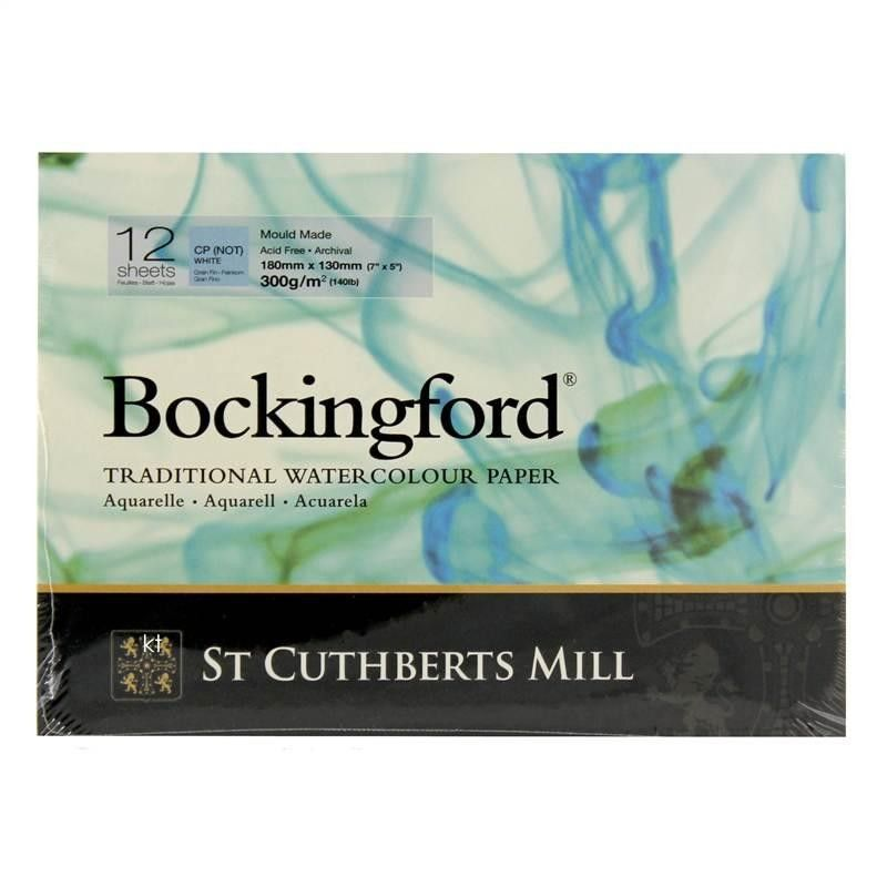 Bockingford Cold Pressed Watercolour Paper Pads Glued 300gsm