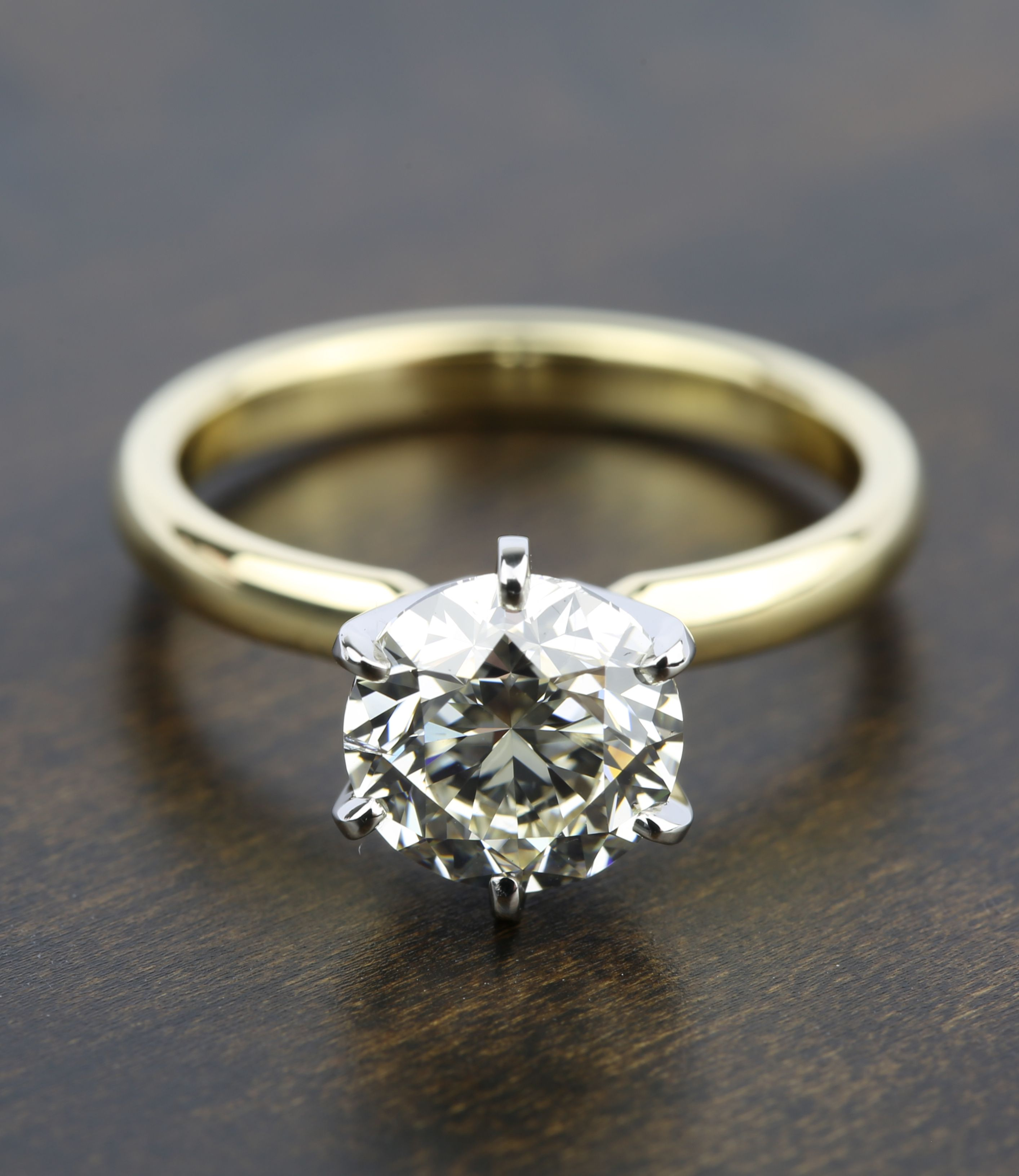 This 2 Carat Round Diamond Sixprong Solitaire Engagement Ring Is Gorgeous!