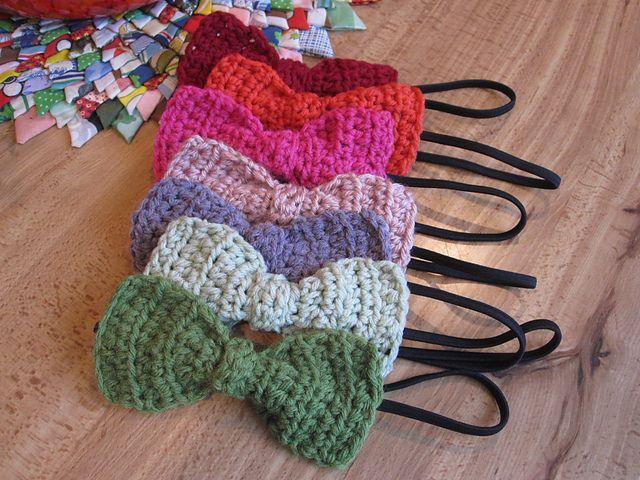 Ravelry Crochet Bow On Elastic Headband Pattern By Livelycrochet