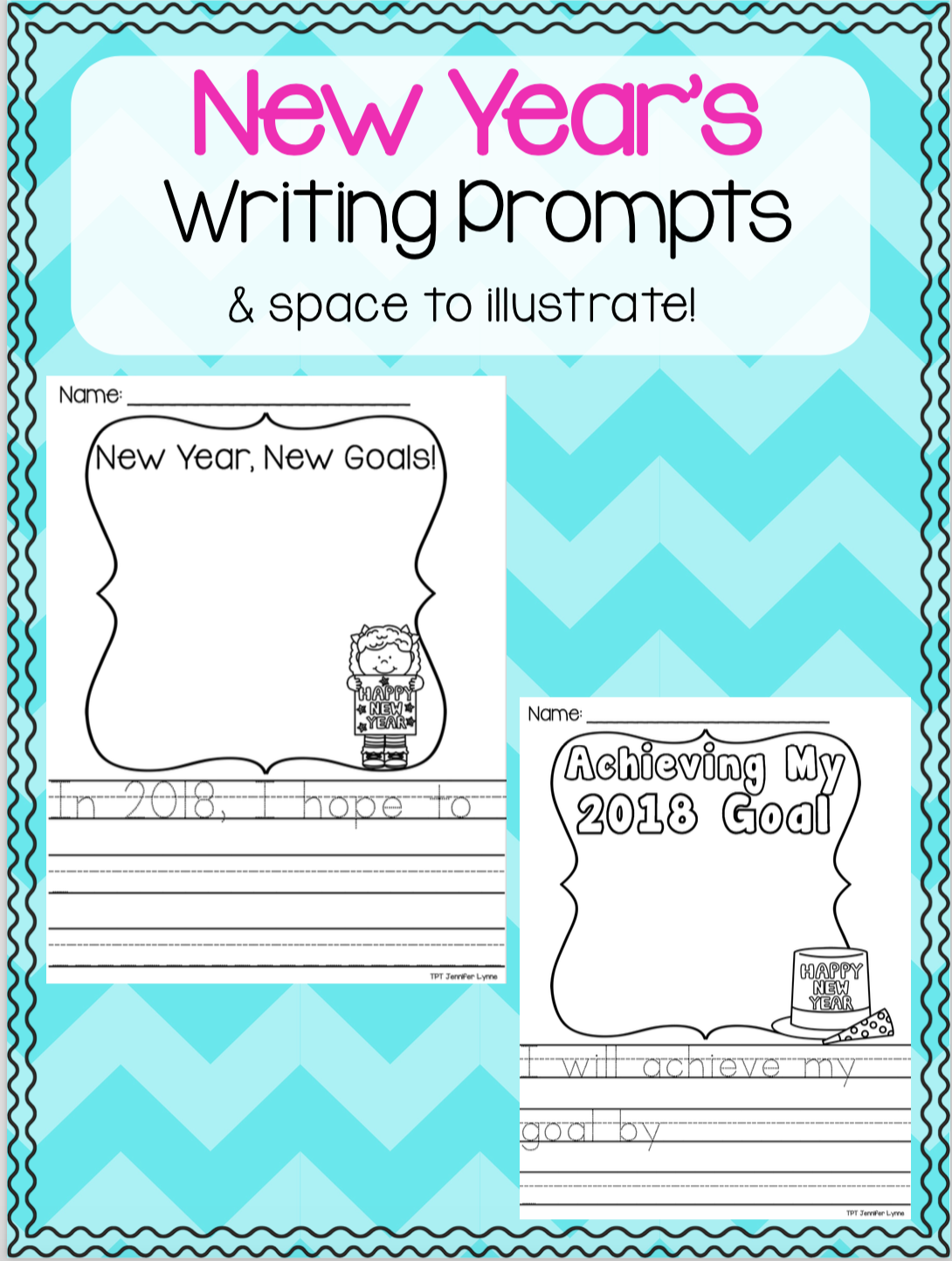 New Year\'s Resolution Goals and Writing Prompts | Prompts, Writing ...