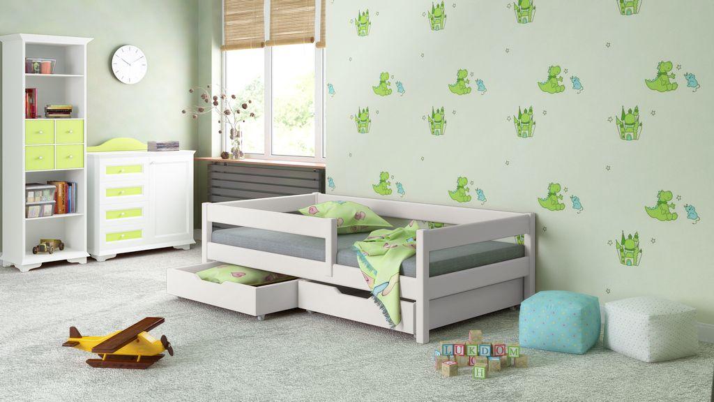 Filip łóżko Drewniane Dla Dziecka Z Barierką Pokój Dzieci Room I