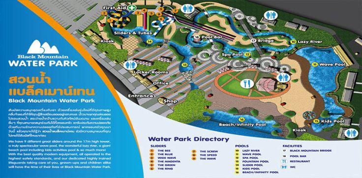 เคร องเล นและจ ดน าสนใจ Black Mountain Waterpark Water Park
