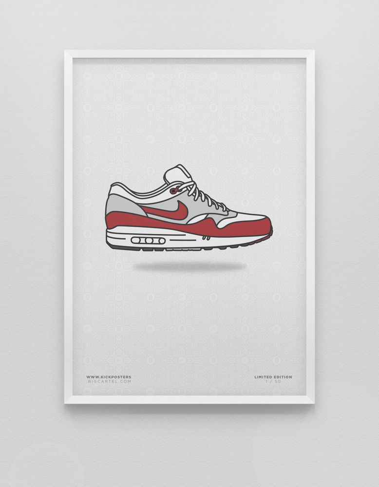 Air Max One #illustration #sneakers | A | Zapatos dibujos