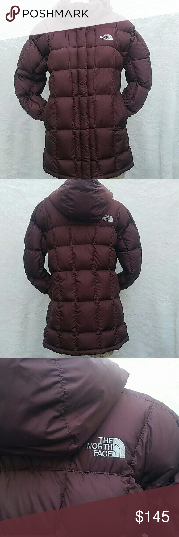 The North Face jacket North Face feather jacket 600. Has a hood is removable and attachable with buttons. Like new in perfect condition. North Face Jackets & Coats