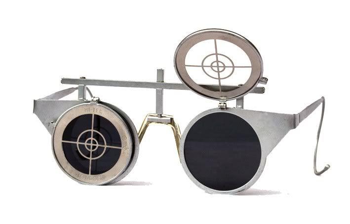 670f5f7a4f round Goth Steampunk sunglasses goggles flip ups unusual Hi Tek ...