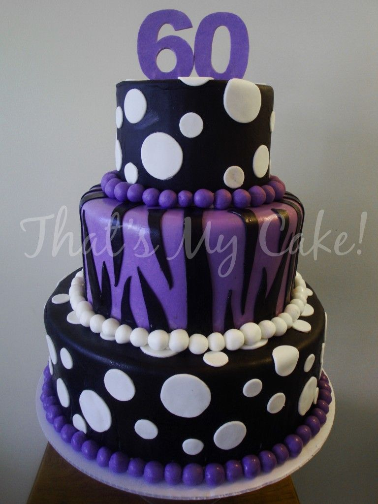 Like this one too smaller polka dots and happy 16th for 60th birthday cake decoration