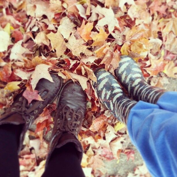 Boots!  #boots #fall #leaves