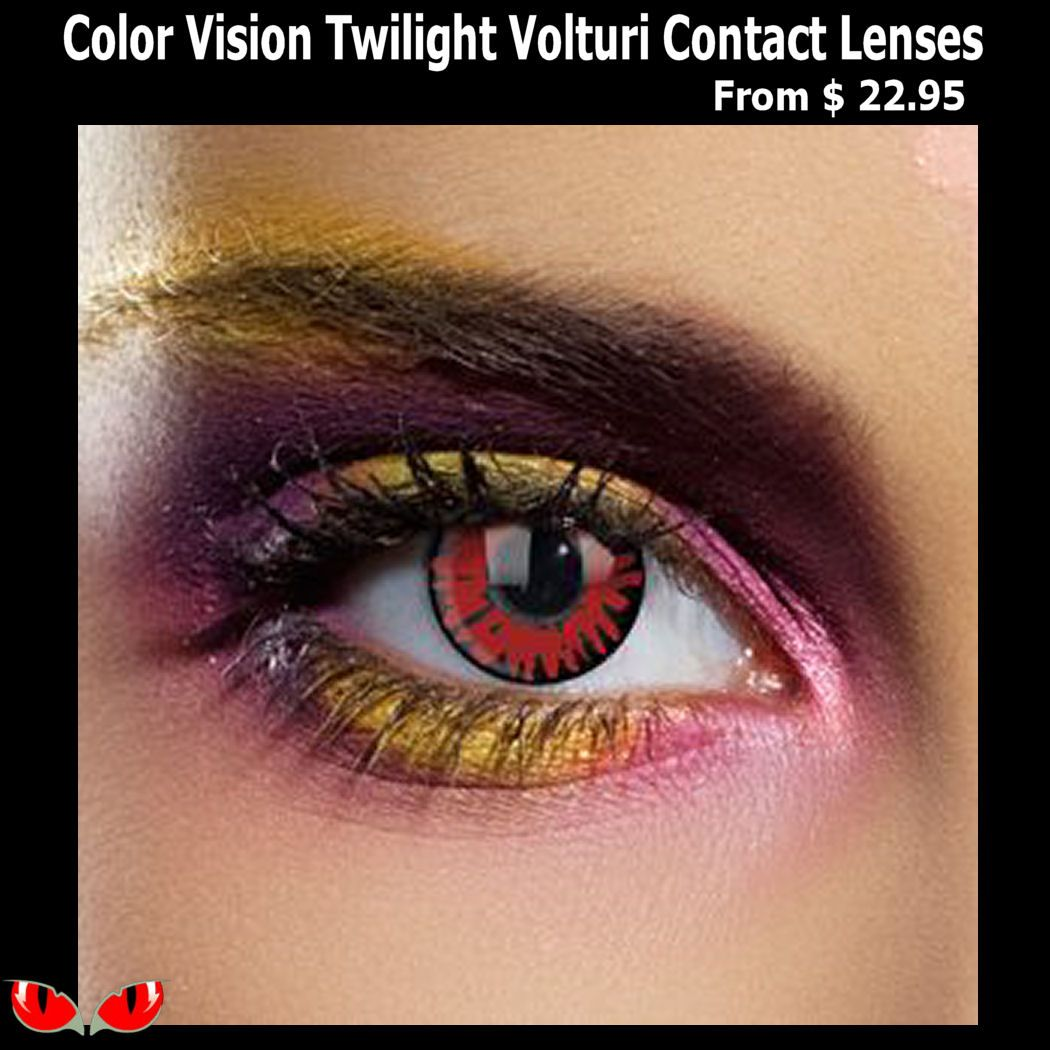 Color Vision Twilight Volturi Contact Lenses In 2020 Color Contacts For Halloween Halloween Contact Lenses Color Lenses