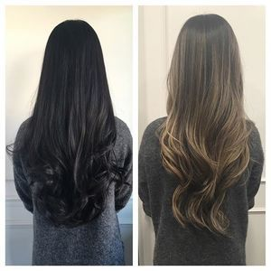 Before Amp After Christina Came In With Virgin Black Hair