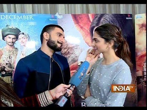 Bajirao Mastani Deepika Padukone And Ranveer Singh Exclusive Interview Ranveer Singh Deepika Padukone Mastani