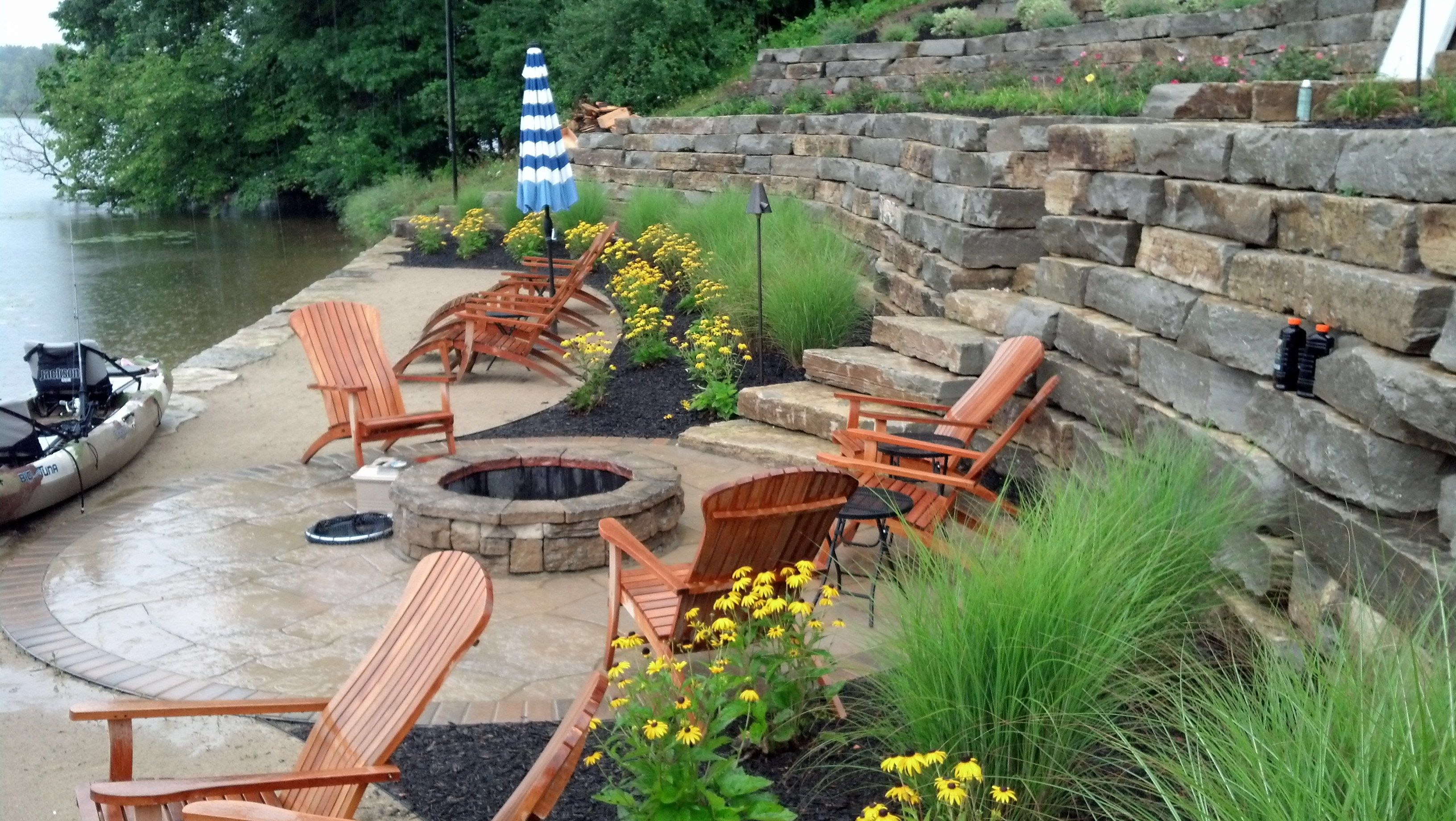 Lakefront landscaping! greenuplandscape.com | Outdoor ... on Lakefront Patio Ideas id=46022