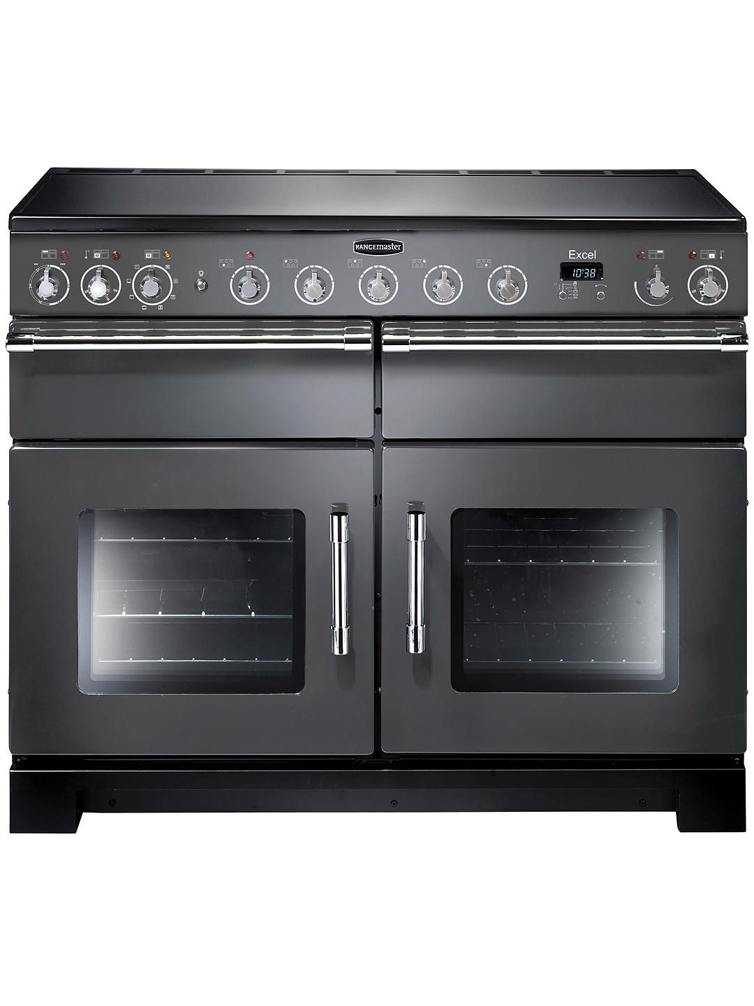 Rangemaster Excel 110 Electric Induction Range Cooker Black Chrome Trim Range Cooker Induction Range Cooker Dual Fuel Range Cookers