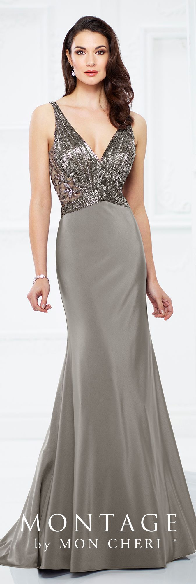 Montage by mon cheri grey evening dresses bodice and formal