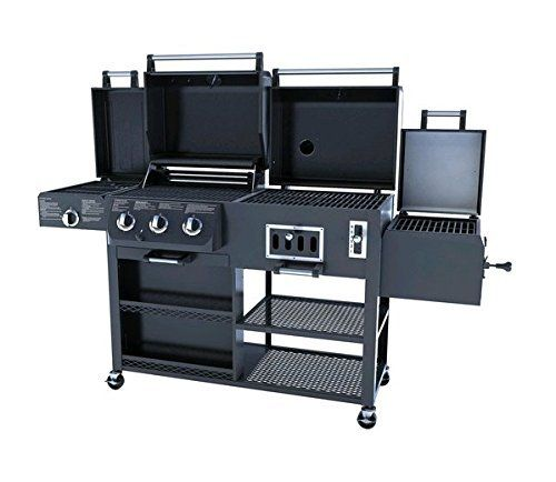 Smoke Hollow 4 In 1 Lp Gas Charcoal Smoker Searing Bbq Grill Model Ps9900 Gas Grill Smoker Gas And Charcoal Grill Combo Grills