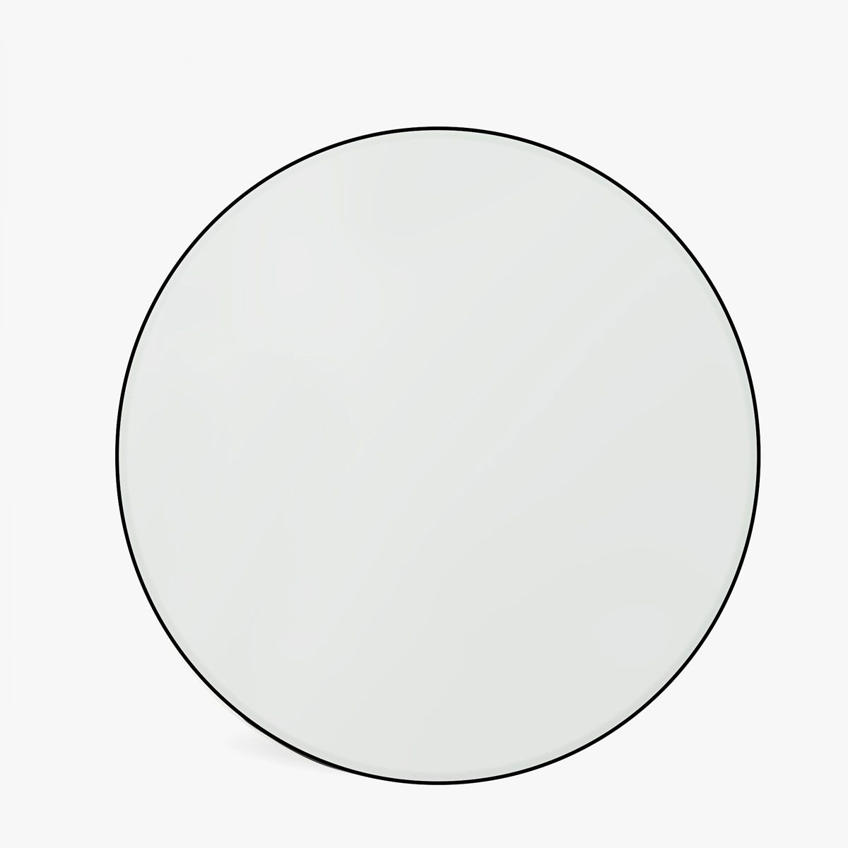 image 1 of the product grey border round mirror ben 39 s. Black Bedroom Furniture Sets. Home Design Ideas