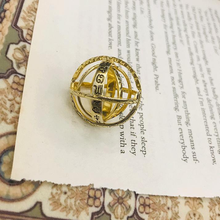 Handmade Sphere Spinner Ring Horóscopo virgem