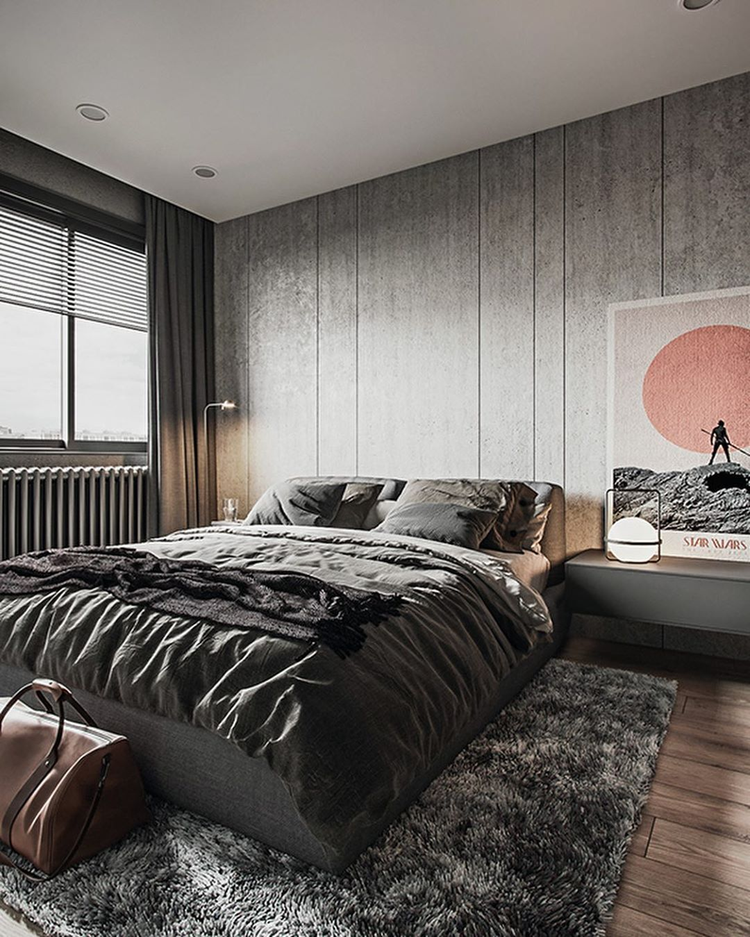 "RENDER LOVERS on Instagram: ""#renderlovers Bedroom goals 🖤 The"