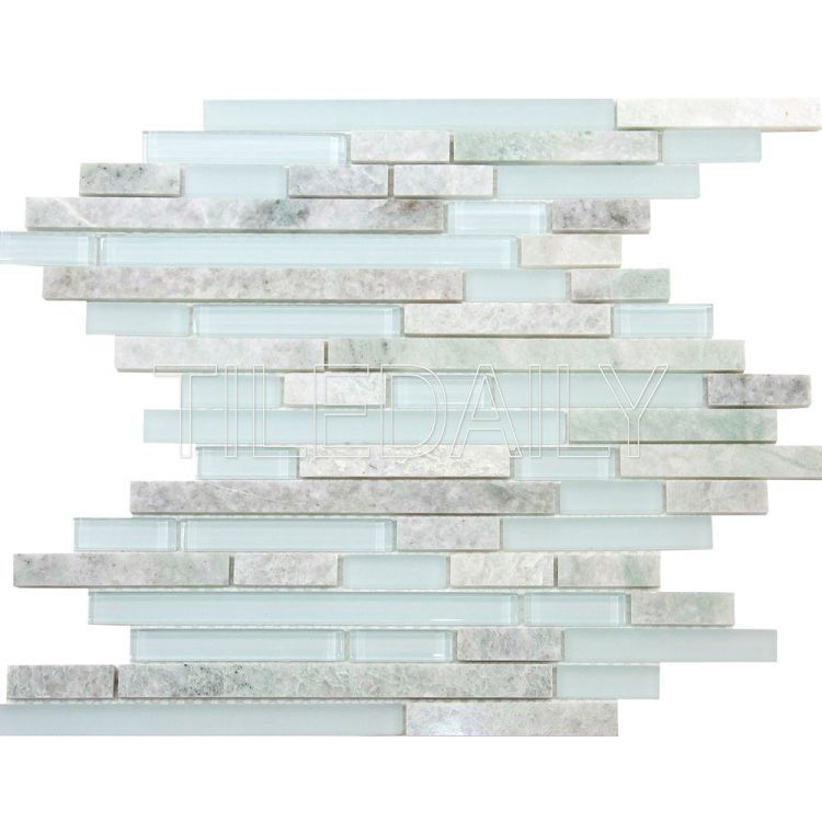 ON SALE $17.95/sq.ft Ming Green Marble And Glass Mosaic Tile #sale ...