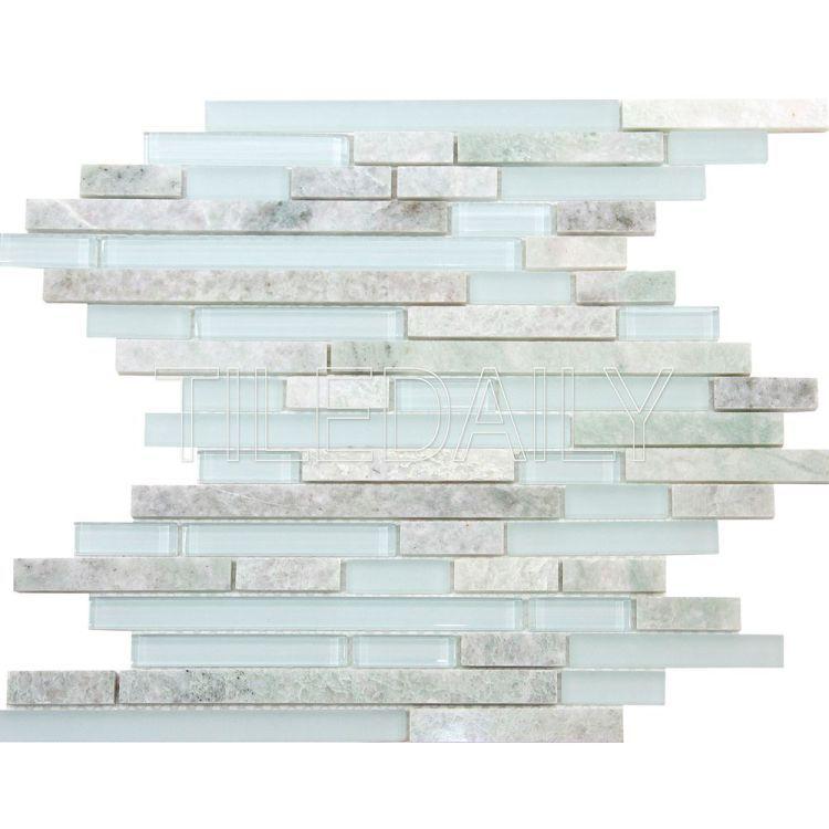Ming Green Marble And Glass Random Brick Mosaic Glass Mosaic Bathroom Green Marble Mosaic Wall Tiles