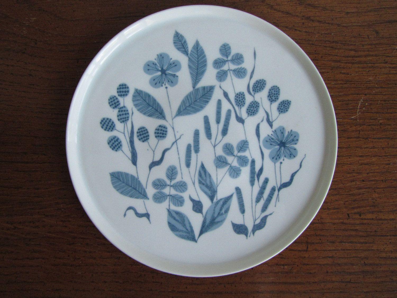 Mid Century German Melitta Plate Blue Floral Pattern 12 00 Via Etsy Tableware Design Blue Plates Tableware