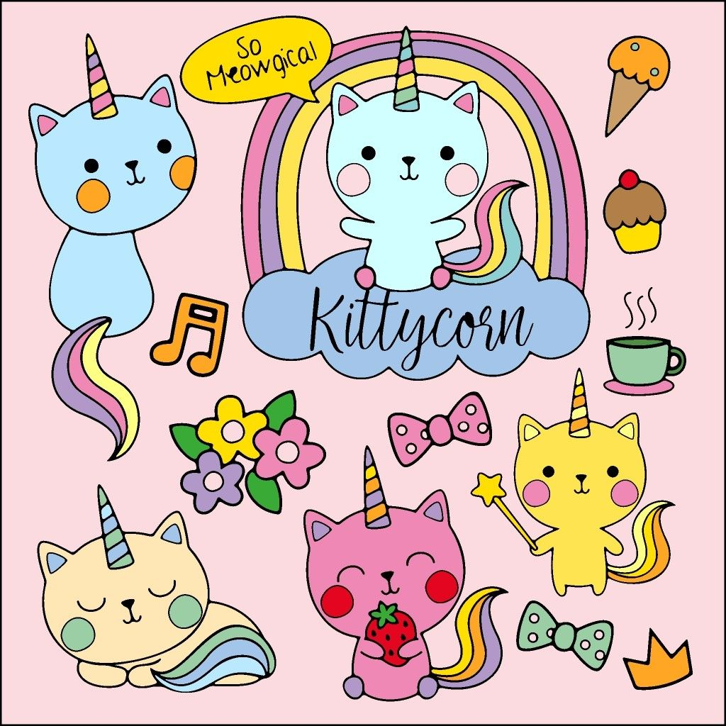 Kittycorns Coloring Book App Happy Colors Coloring Books