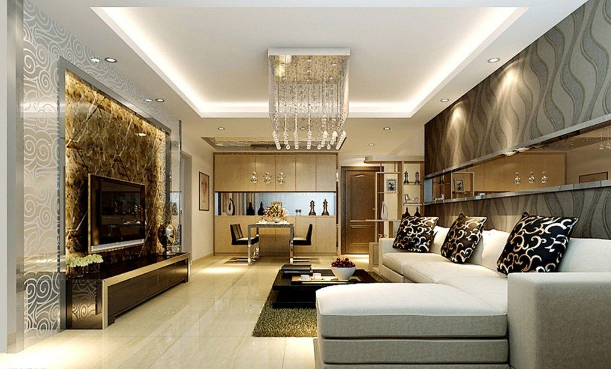 Contemporary living rooms modern living dining room for Different interior designs of houses