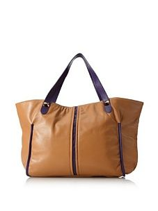 I love this purse! The carmel and purple details are gorgeous together! <3<3