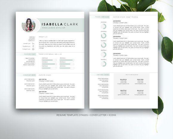 Clean Cv-Resume II by Estartshop on @creativemarket Branding