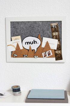 pin it up baby tolles memoboard selbst gemacht mit dem bastel tipp von noch kreativ kork. Black Bedroom Furniture Sets. Home Design Ideas